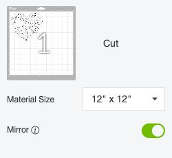 Design Space: mirror iron on