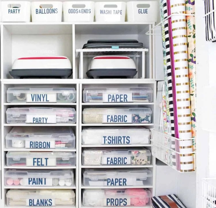 The Best Cricut Storage Organization Ideas For Vinyl Cardstock More