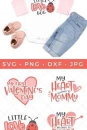 baby valentine's day SVG files
