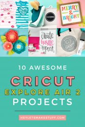 With the recent Cricut Maker and Cricut Joy launches, you may be wondering if your Cricut Explore Air 2 is still useful. YES! Check out these amazing projects that you can make, plus learn more about this versatile cutting machine.