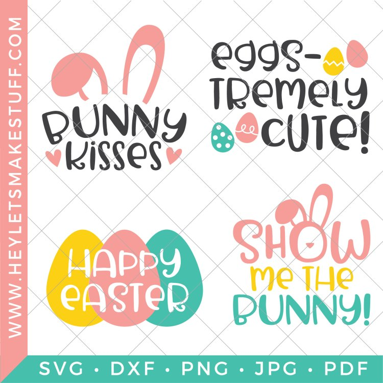 Four files in the Easter SVG bundle