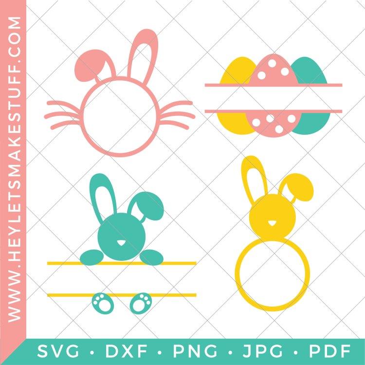 Set of four Easter monogram SVG files