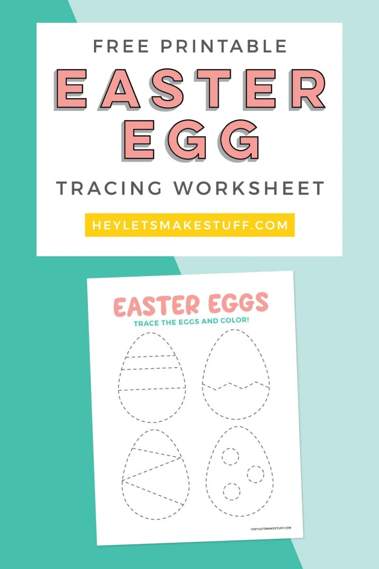 Easter egg tracing worksheet pin image