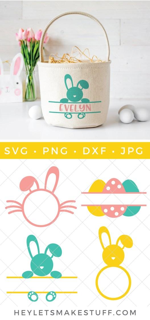 Easter monogram SVG files pin image