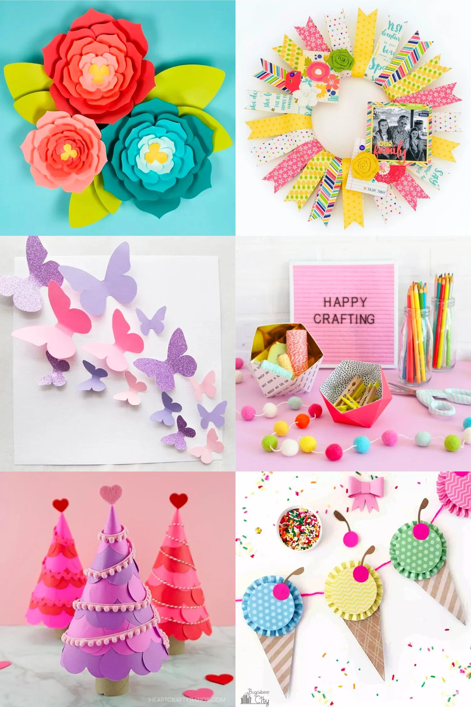 With a little paper and a pair of scissors you can make these beautiful DIY paper craft ideas! Get inspired as you see all the amazing things you can make with paper with these easy paper craft ideas!