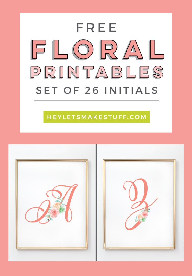 These feminine floral nursery initials are the perfect finishing touch to your little girl's room! Download all 26 letters for free and print at home. Plus find four coordinating nursery prints!