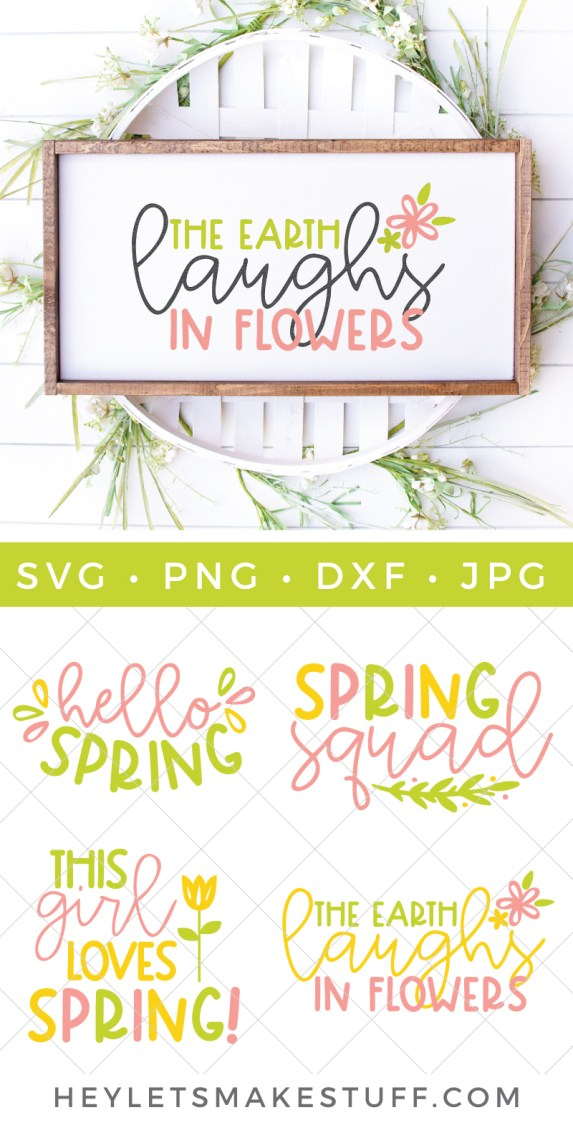 Spring cut files bundle pin image
