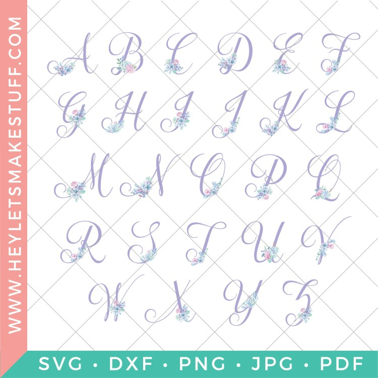 These feminine purple succulent nursery initials are the perfect finishing touch to your little girl's room! Download all 26 letters for free and print at home, plus get four matching nursery prints!