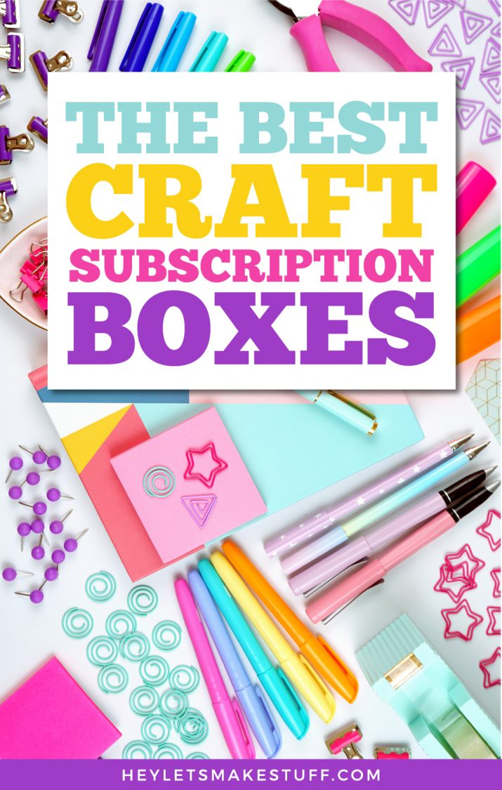 The Best Craft Subscription Boxes pin image
