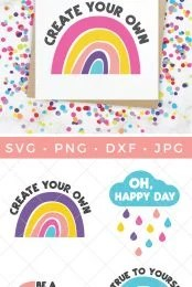 rainbow print and rainbow SVG files