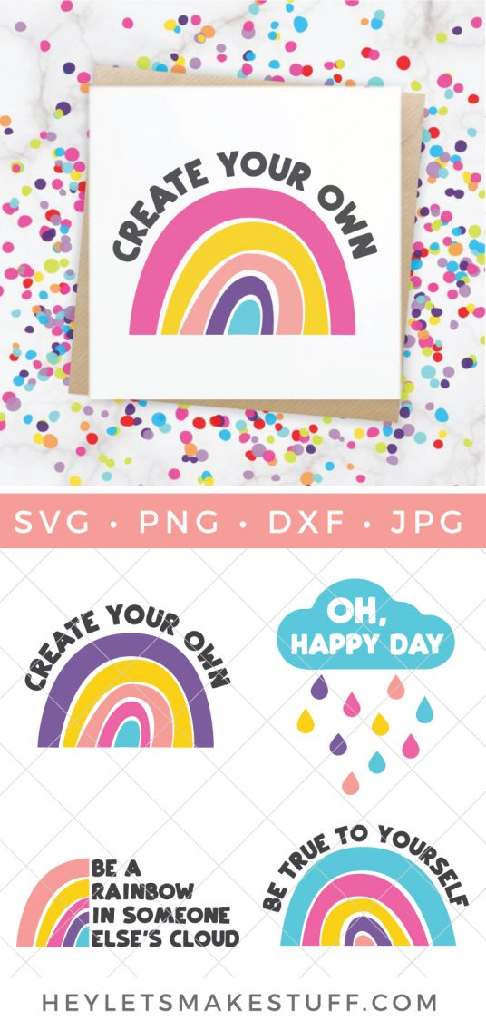 Create your Own Rainbow print and other Rainbow SVG files
