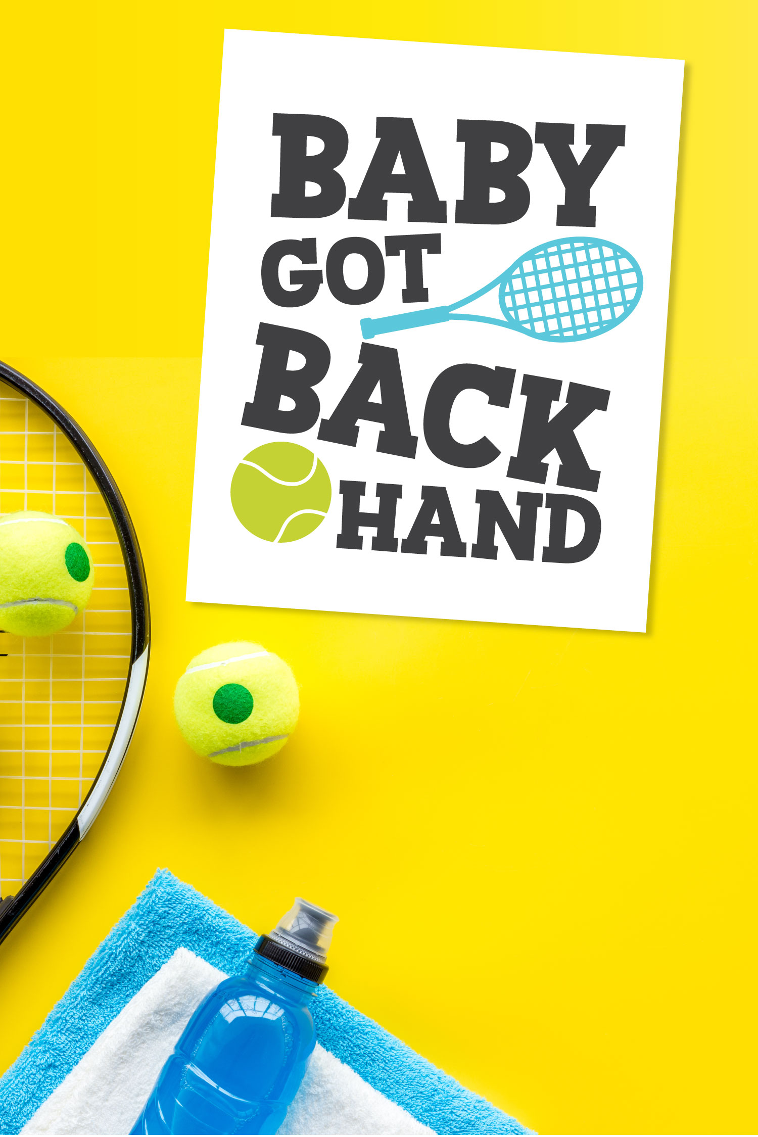 tennis SVG on card