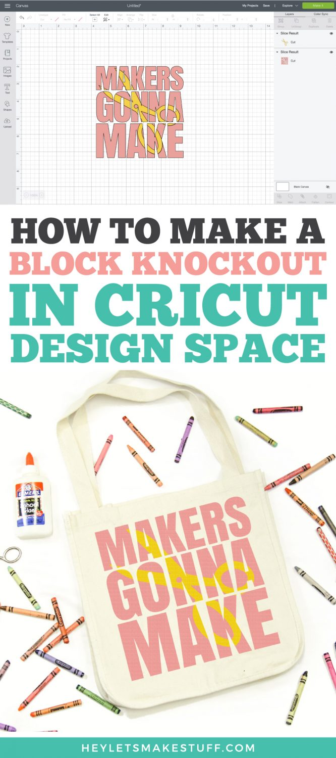How to Make a Block Knockout Design in Cricut Design Space