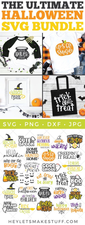 Pin image for big Halloween SVG bundle