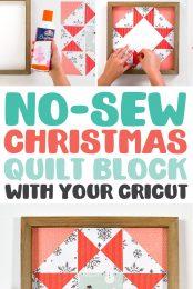 Christmas Paper Quilt Block Pin