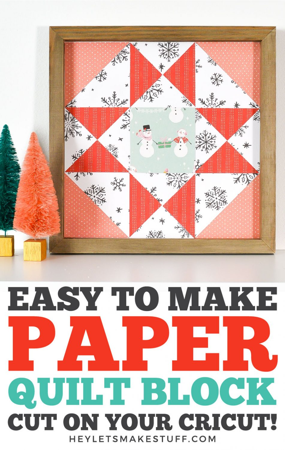 Pin image for Easy To Make Paper Quilt Block Cut On Your Cricut