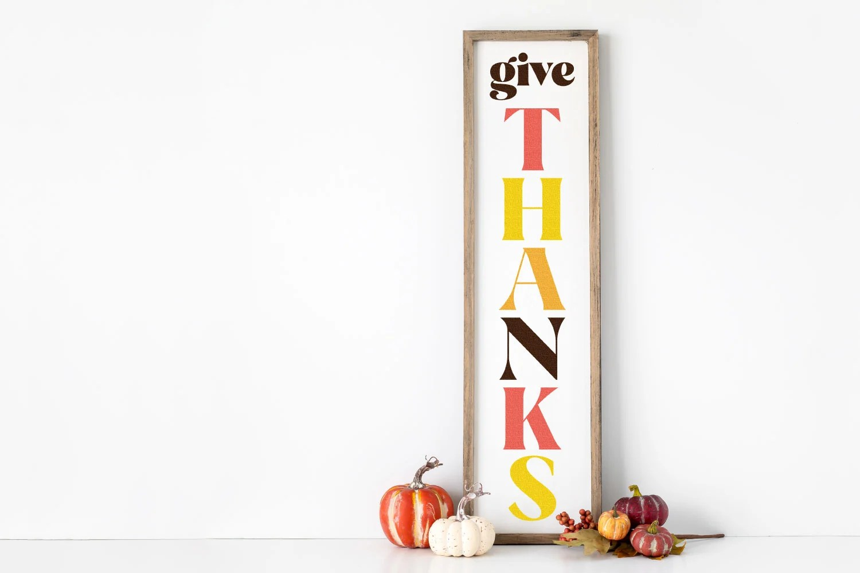 Give Thanks - DIY Fall porch sign