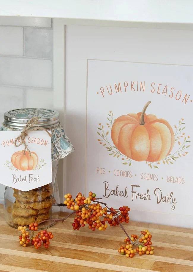 Pumpkin printable sign