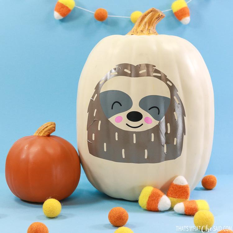 Sloth pumpkin