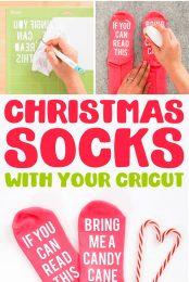 How to Make Funny Christmas Socks pin image