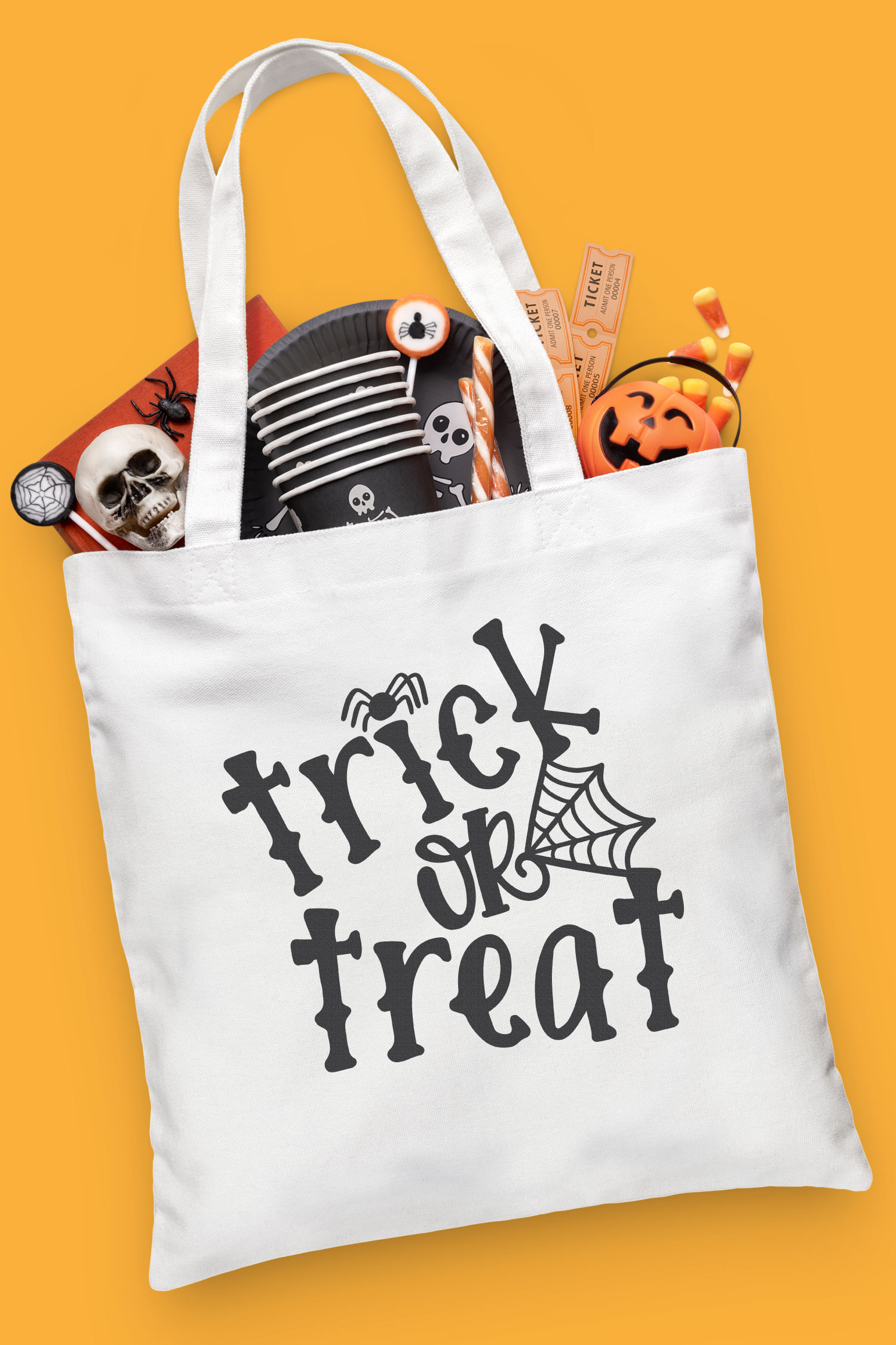 Halloween SVG files tote
