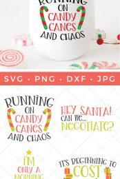 funny Christmas SVG pin image
