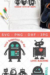 Robot SVG bundle pin image