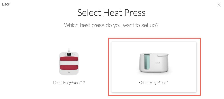 Cricut Design Space: Select Heat Press