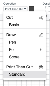 Cricut Design Space: Change heart shape to print then cut