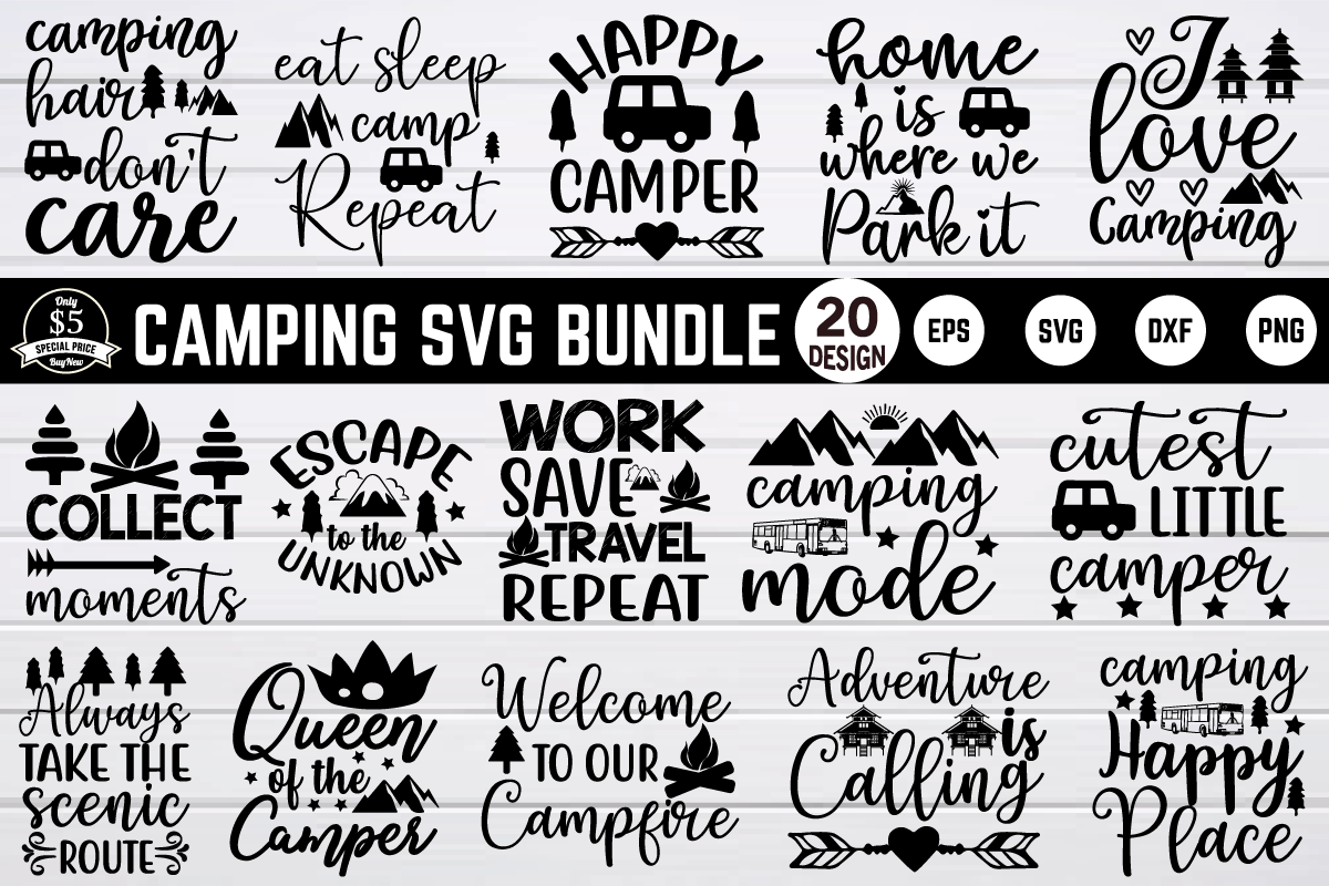 Camping SVG Bundle from Creative Fabrica