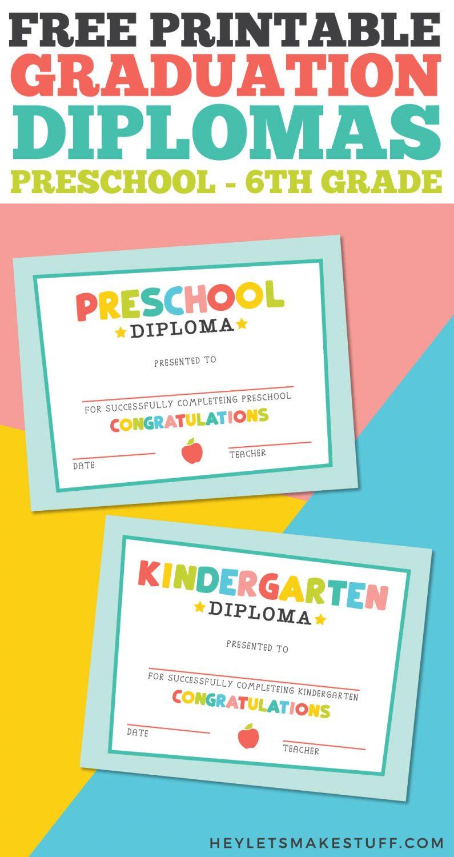 Free Printable Graduation Diplomas Pin Image
