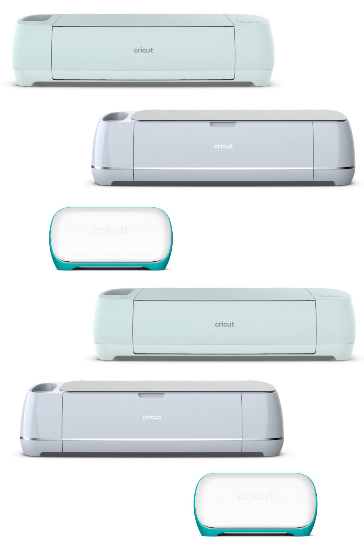 Collage of Cricut machines on white background