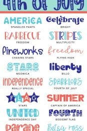 4th of July Fonts - Pin Image