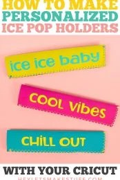 Personalized Ice Pop Holders with Cricut Pin