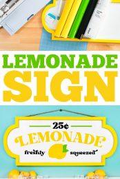 Lemonade stand sign pin image