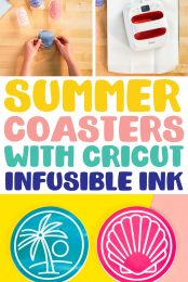 Summer Coasters with Cricut Infusible Ink pin image