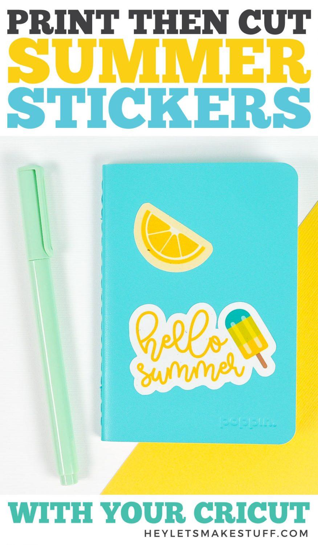 Cricut Summer Stickers Pin