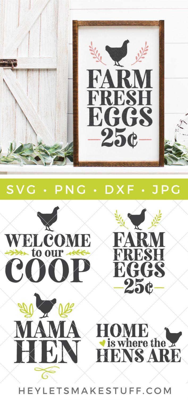 Farm Fresh Eggs SVG pin image