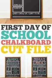 First Day of School Chalkboard SVG pin image