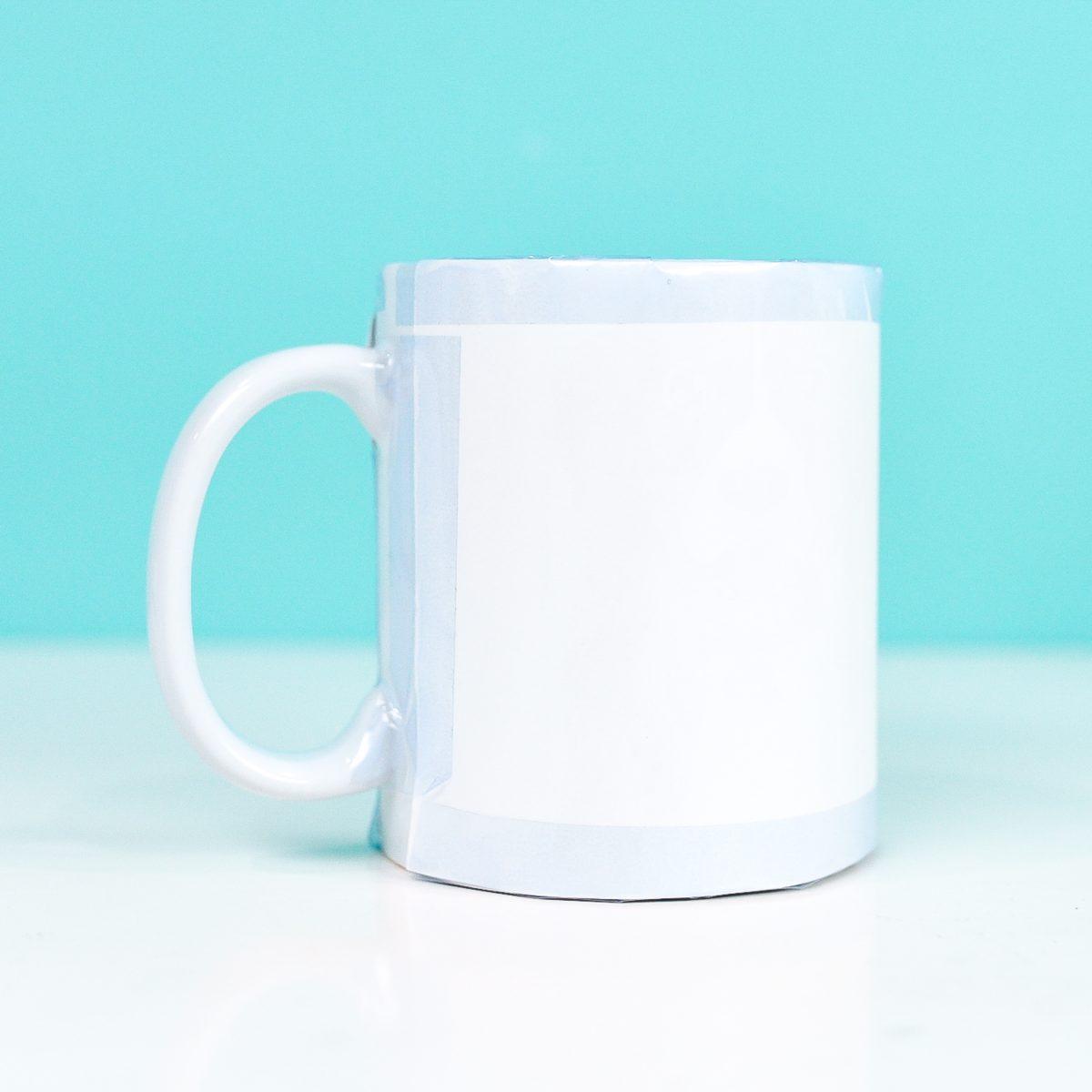 Image taped on Cricut mug