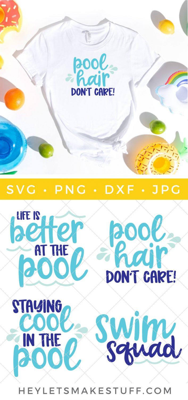 Swimming Pool SVG Bundle pin image