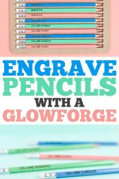 How to Engrave Pencils with a Glowforge / Laser pin image