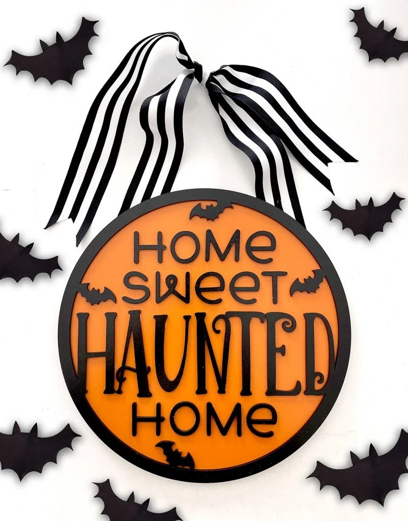 Home Sweet Haunted Home Sign by Pineapple Paper Co