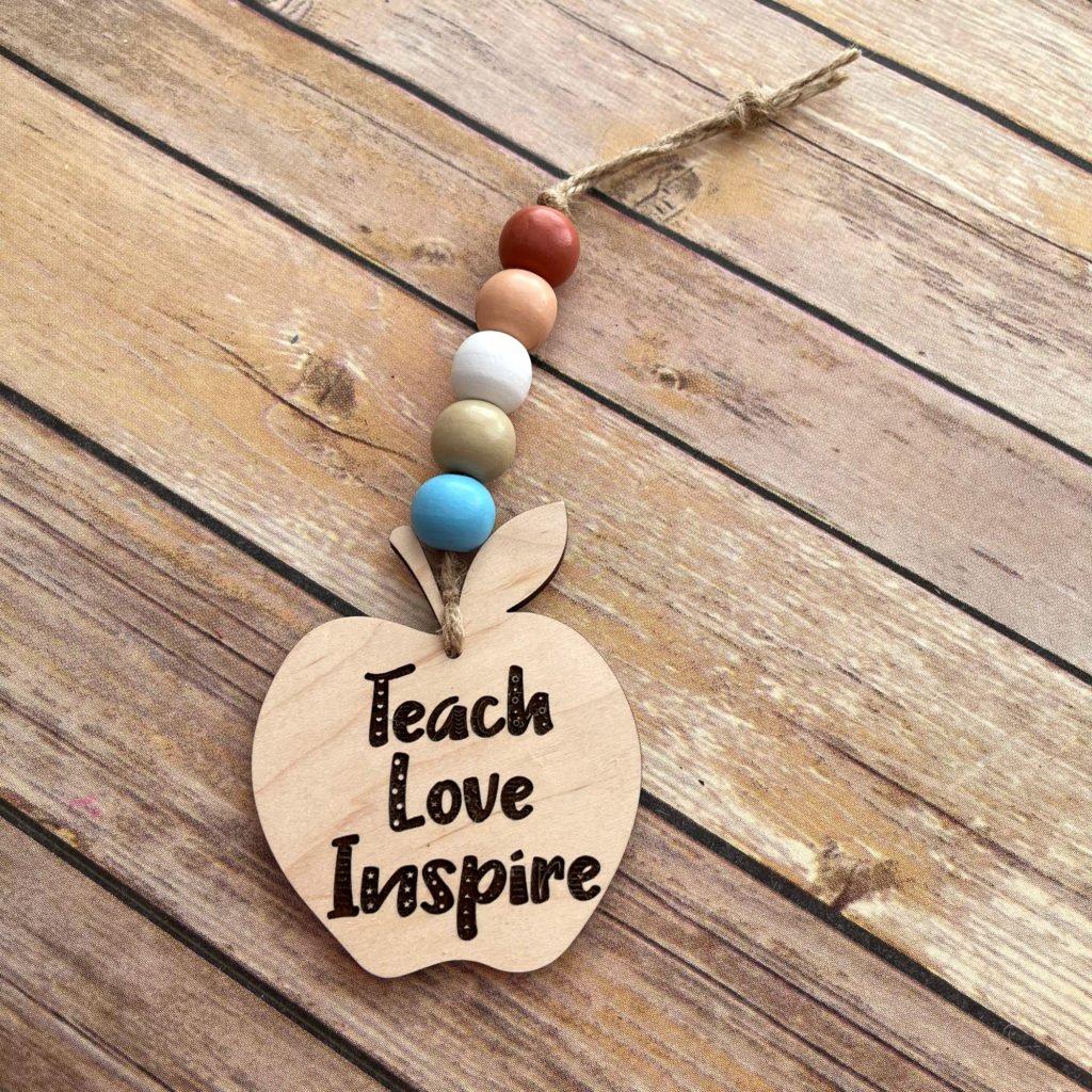 Teach Love Inspire Apple Ornament
