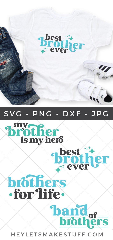 Brother SVG bundle pin image