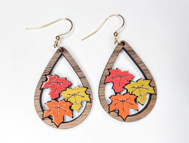 Fall Earrings by Green Fairy Files