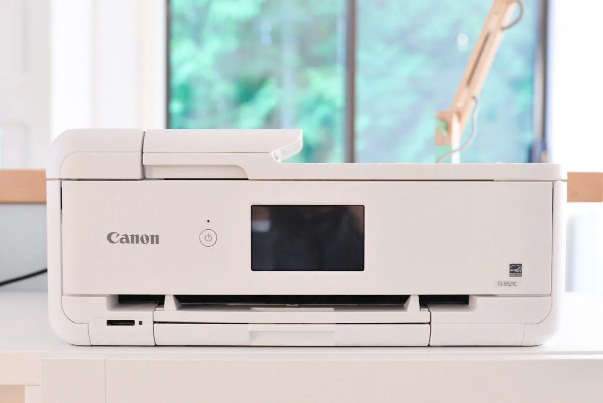Canon Pixma printer on table