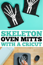 Skeleton Oven Mitts Pin Image #1