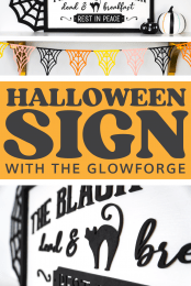 Halloween Sign with the Glowforge Pin Image #1