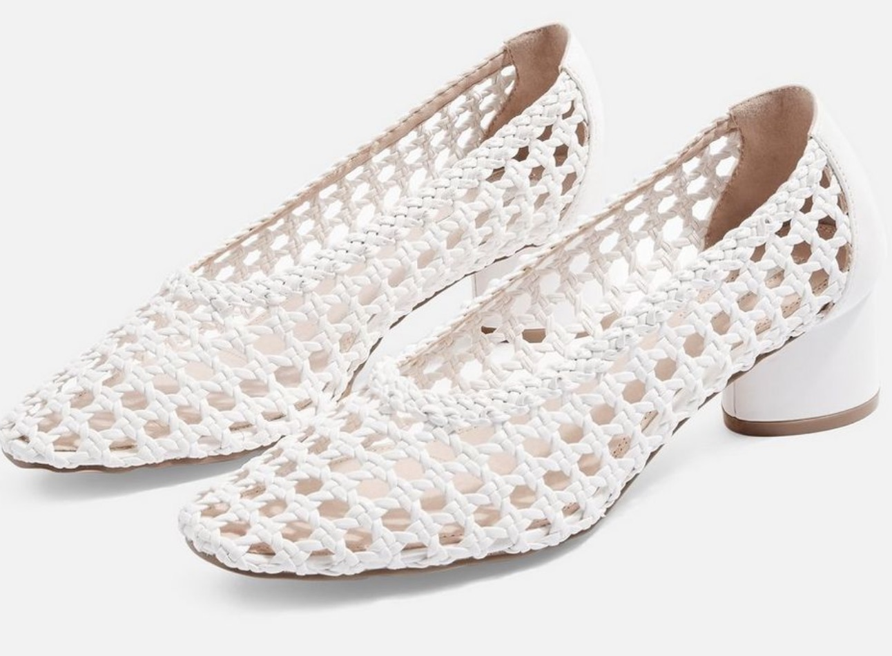 Topshop Raffia White Shoes